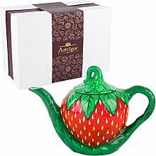 Artvigor, Porzellan Kaffeekanne 1000 ml,