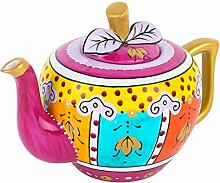 Artvigor, Porzellan Teekanne 1 Liter, Handbemalt
