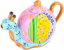 Artvigor, Porzellan Teekanne 1200 ml, Handbemalt