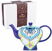Artvigor, Porzellan Teekanne, Bunt Teeservice,