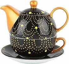 Artvigor, Porzellan Teekanne, Bunt Teeservice, Tea