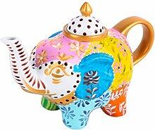 Artvigor, Porzellan Teekanne, Handbemalt,