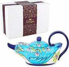 Artvigor, Porzellan Teekanne, Handbemalt
