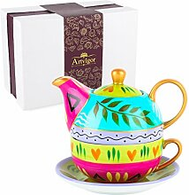 Artvigor, Tea for one Set, Porzellan Teeservice,