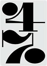 artvoll - Numbers 47 Poster mit Rahmen, 30 x 40 cm