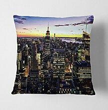 Arty Pie New York Manhattan Skyline Kissen mit