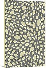 artzee Designs Home Décor Leinwand fertig zum aufhängen Geschenkidee Modern grau und gelb Blumen Abstrakt Art Wand für Küche Wohnzimmer Schlafzimmer Flur 40,6x 50,8cm Multicolor, 40,6x 50,8cm