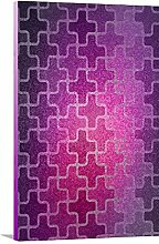 artzee Designs Home Décor Leinwand fertig zum aufhängen Geschenkidee Modern violett Mosaik Abstract Art Wand für Küche Wohnzimmer Schlafzimmer Flur 20,3x 20,3cm Multicolor, 20,3x 20,3cm