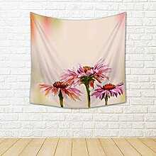 ArtzFolio Artwork Echinacea Silk Tapestry Wall