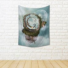 ArtzFolio Fantasy Landscape with Floating Island