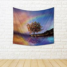 ArtzFolio Landscape with A Flowered Tree Canvas