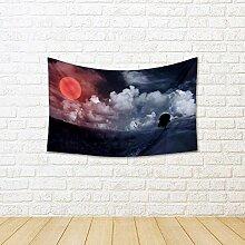 ArtzFolio Landscape with Big Sun Canvas Tapestry
