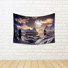 ArtzFolio Winter Alien Landscape with Damaged Moon