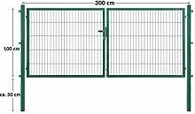 Arvotec Doppeltor/Doppelflügeltor, grün, 200x50,