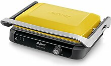 Arzum AR2020G Edelstahl Deluxe Toaster Kontaktgrill Sandwichmaker Toastmaschine Grill 1800W Gelb