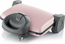 Arzum Toaster Toastmaschine Toast Edelstahl Grill Pastell Sandwichmaker Paninaro, Farbe:Pastell Pink