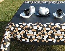 AS4HOME Würfelzucker schwarz Tischdecke -
