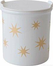 ASA 4871425 Vorratsdose Sterne - gold / weiß - Porzellan Ø 9 cm Höhe 10 cm