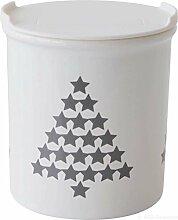 ASA 4872045 Vorratsdose Tannenbäume - Porzellan - weiß / grau Höhe 10 cm Ø 9 cm