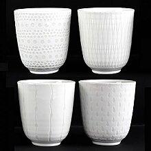 ASA 4er Becher Set Sortiert, Porzellan, Weiß, 7.5 cm cm, 4-Einheiten
