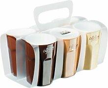 ASA 55079/232 Classic Pack Keramik Espresso Becher 3 Farben Sortier