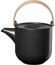 ASA coppa Teekanne mit Holzgriff kuro Porzellan