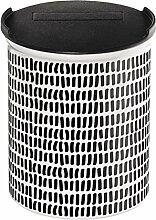 ASA Coppa Vorratsdose, Dose, Behälter, mit Deckel, Mini Stripes, Keramik, Schwarz / Weiß, 4875014