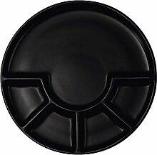 ASA TAPERO Fondueteller, schwarz, Keramik, 24 cm