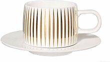 ASA Tres'or Tasse mit Unterteller, Weiß, 200