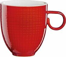 ASA Voyage Mug, Kaffeebecher, Kaffee Becher, Porzellan, Chili Rot, 300 ml, 15061142