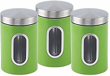 ASAB 3-teiliges Dosen-Set aus Edelstahl für Tee,