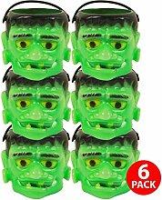 Asab Halloween Mini Kunststoff Sweet Topf Kinder Party Preis Staubbeutel Konus Trick treat Spiele Fancy Kleid Zubehör Home Dekoration, Monster