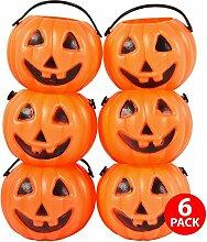 Asab Halloween Mini Kunststoff Sweet Topf Kinder Party Preis Staubbeutel Konus Trick treat Spiele Fancy Kleid Zubehör Home Dekoration, Pumpkin