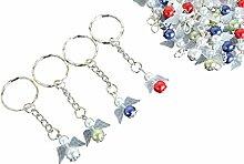ascabo 10 Stück Schutzengel Schlüsselanhänger