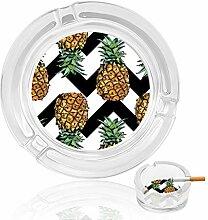 Aschenbecher aus Glas, Ananas, für drinnen und