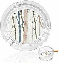 Aschenbecher aus Glas, Baumstämme, Aschenbecher,