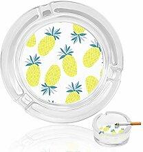 Aschenbecher aus Glas mit niedlichem Ananas, für