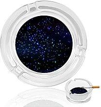Aschenbecher aus Glas, Sternenhimmel, für drinnen
