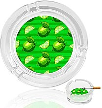 Aschenbecher aus Glas, zitronengrün, für drinnen
