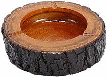 Aschenbecher Aus Holz, Großer, Kleiner