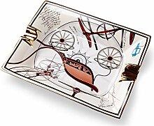 Aschenbecher aus Keramik, schlichter Stil, für