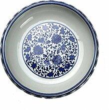 Aschenbecher Blaue Und Weiße Keramik Melonenschale Couchtisch Dekoration
