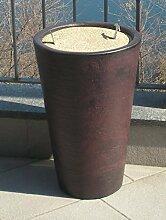 Aschenbecher für Draußen, Zigarettenbehälter rausnehmbar, rostresitent, Ascheneimer ideal für Gastronomie, Biergarten, Garten