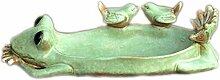 Aschenbecher mit europäischem Vogel, Keramik, zum