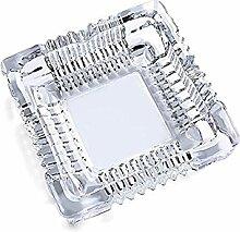 Aschenbecher, quadratischer Glas-Aschenbecher für