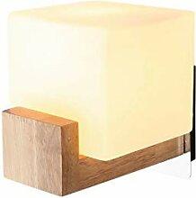 ASDF WandLampe Holz für Wohnzimmer Schlafzimmer