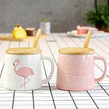 Asdfg Ceramic Flamingo Geschirr Serie Weiß