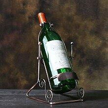 ASDFGG Tür Gläser Metall Weinregal Tabletop
