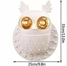 ASDFGH Kreative Kinder Zimmer weiß Owl Wandlampe