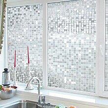 ASDFGH Statische klarsichtfolie 3D-mosaik
